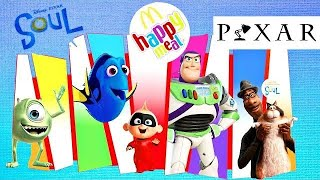 2020 McDonalds Happy Meal: Disney Pixar Movie, Soul, Coco, Inside Out, Cars, Toy Story