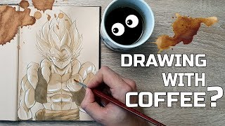 DRAWING with COFFEE? - Gogeta