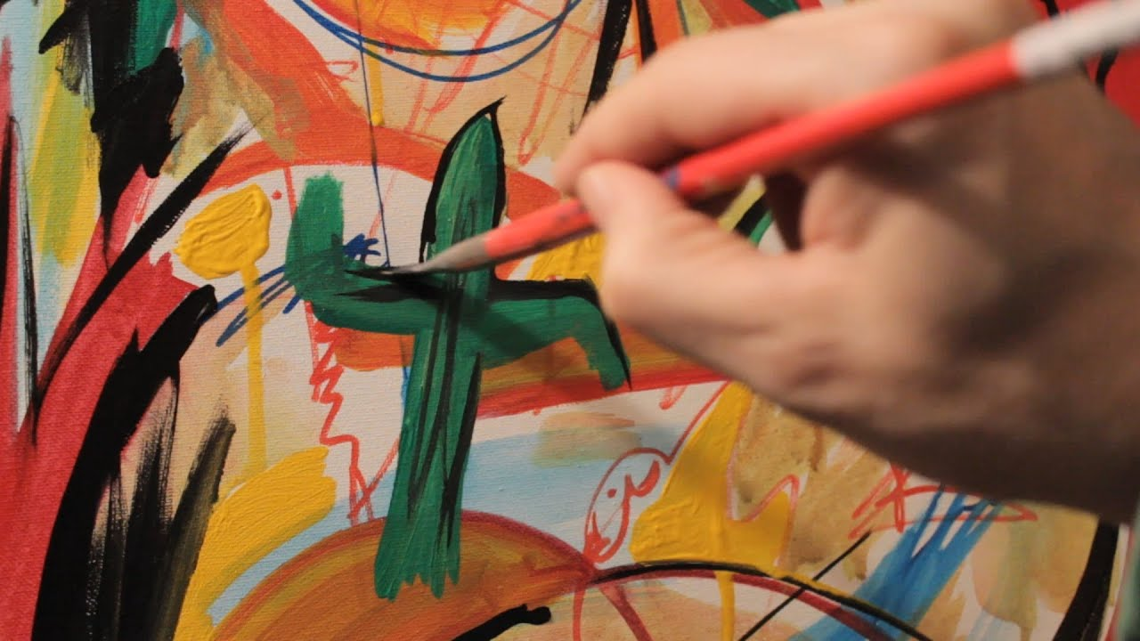 How to Paint Creative with ACRYLIC PAINTS Have fun Slap