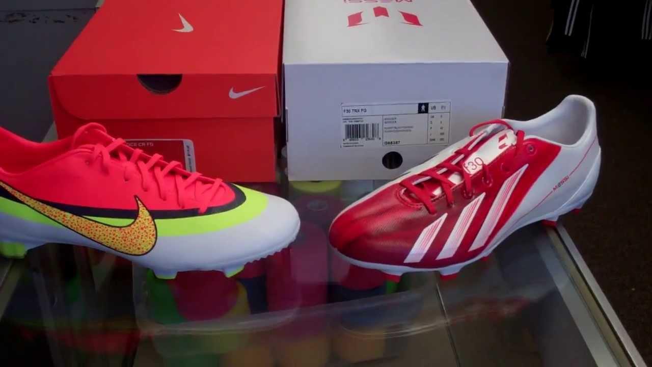 806fdb95d Nike Mercurial Veloce CR7 vs. Adidas F30 Messi - YouTube
