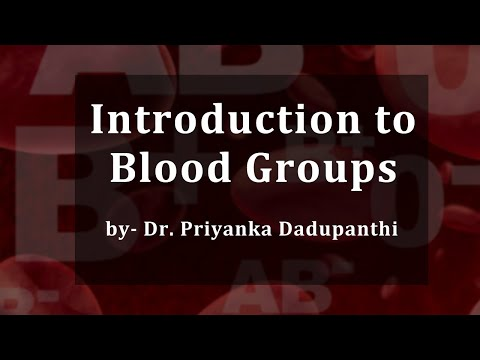 Blood Groups Lecture, BSc Zoology by Dr. Priyanka Dadupanthi.