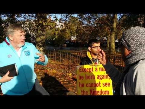 Ex-Soldier Preacher - Encourage Muslims - Speakers Corner Hyde Park London 13-10-16.