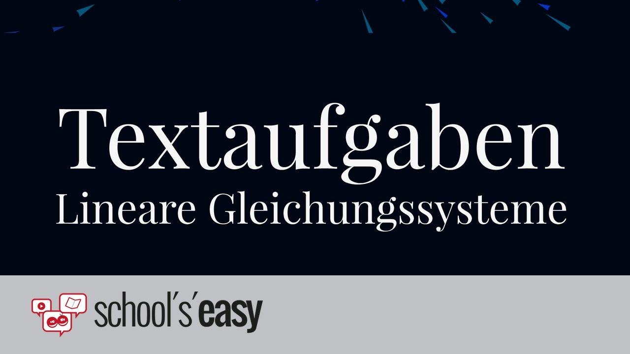 Textaufgaben zu linearen Gleichungssystemen   Altersaufgaben - YouTube