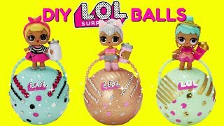 D.I.Y. LOL Surprise Balls Custom Makeover Kitty Queen, Sis Swing, Genie LOL Surprise Dolls Toys