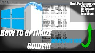 How to optimize windows for the BEST PERFORMANCE(Fps Increase,PUBG,CS:GO,H1Z1)