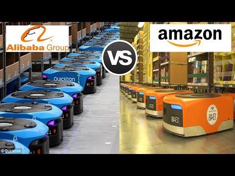 Amazon's Kiva Robots Vs Alibaba's Quicktron Robots - Battle of Warehouse