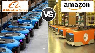Amazon's Kiva Robots Vs Alibaba's Quicktron Robots - Battle of Warehouse