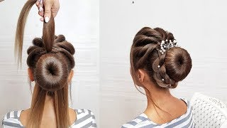 Beautiful hairstyles step by step.Prom hair.