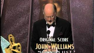 John Williams Winning Best Original Score For Schindler S List