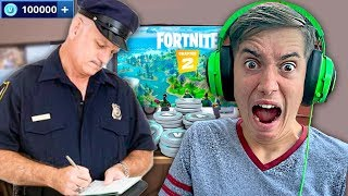 Kid Spends £2000 in Fortnite Chapter 2! *POLICE CALLED*