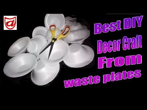 Best DIY Decor craft from Disposable thermocol Plates | Best out of waste