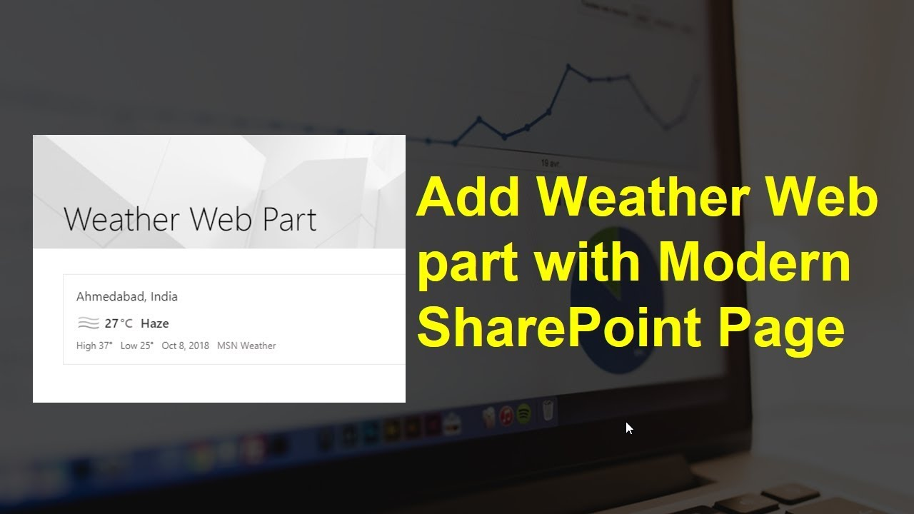 How to add weather web part in Modern SharePoint Page