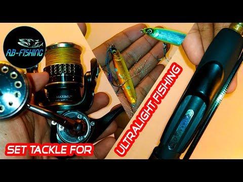 STANDAR Set Tackle Untuk Ultralight Fishing - Fishing Tutorial