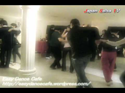 Japan Salsa TV [ Uochan & Yae ] @Easy Dance Cafe Video by TAMA 20120217