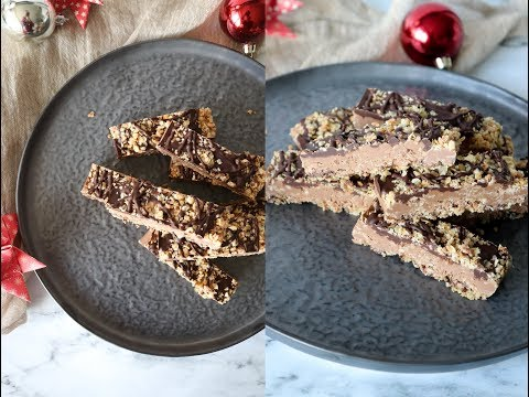 Crispy Chocolate Oat Bars - Christmas Recipe - By One Kitchen
