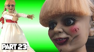 Evil Doll Annabelle mailed to us FREAKS US OUT and haunts us like a SCARY CLOWN - Part 23