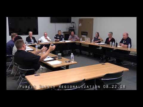 Public Safety Regionalization 08.22.18