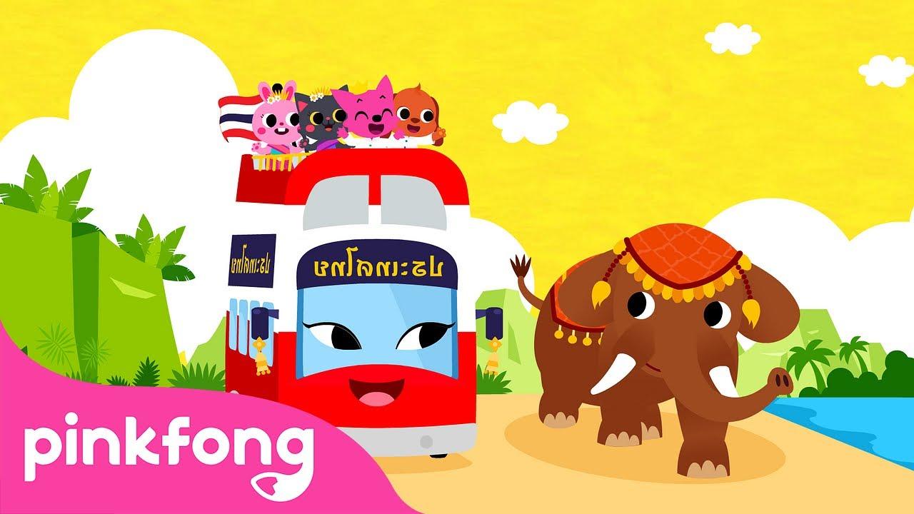 Tour de Ônibus na Tailândia | Canções de Ônibus | Pinkfong Canções para Crianças