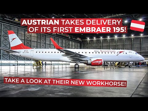 Austrian Airlines FIRST Embraer 195   Impressions, ceremony and walkthrough!