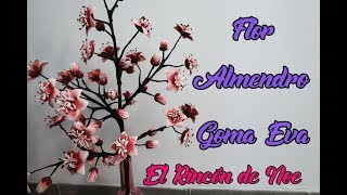 COMO HACER FLOR DE ALMENDRO CON GOMA EVA / FOAMY El Rincón de Noe