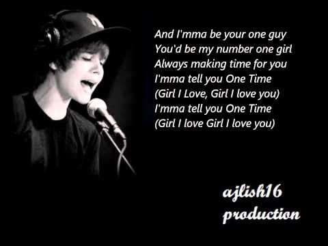 Justin Bieber ~ One Time (Acoustic) Lyrics
