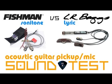 Acoustic Guitar Pickup Fishman Sonitone Piezo Vs LR Baggs Lyric Comparison