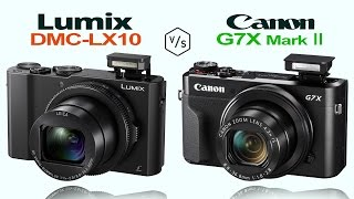 Panasonic Lumix LX10 vs Canon G7X Mark II