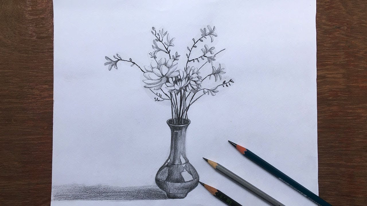 35 Latest Simple Flower Vase Drawing Designs Beads By Laura