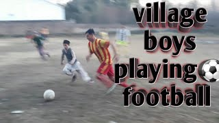 ||⚽️Village boys|| playing football⚽️ and so funny😂 moments........its tik tok 🔚