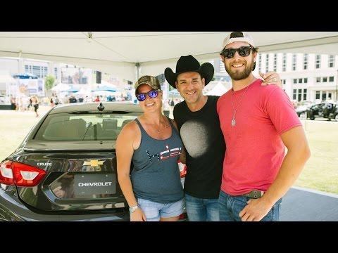 #ChevyCMA: Luke Bryan Car Karaoke with Craig Campbell at CMA Fest