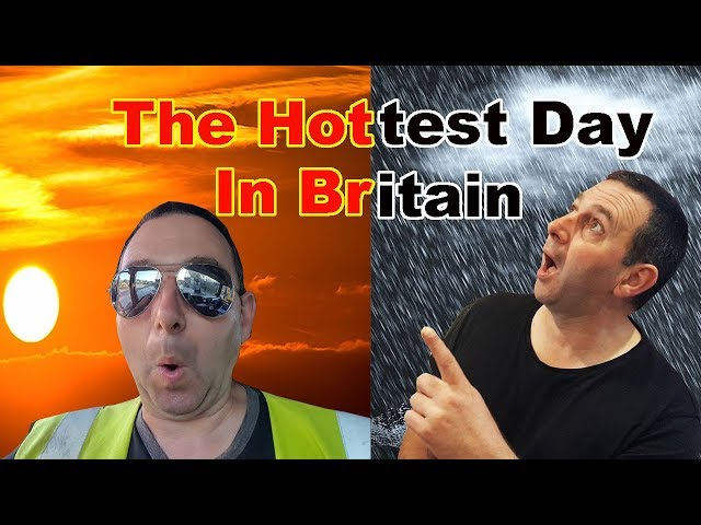 The Hottest Day in Britain Truck Driving with British Trucking