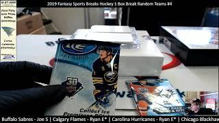2019 Fantasy Sports Breaks Hockey (1) Box Break Random Teams #4