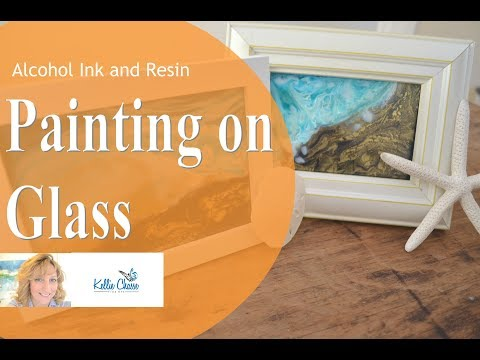 Alcohol Ink Art Resin Painting on Glass Wave Techniques – Intro of New Course