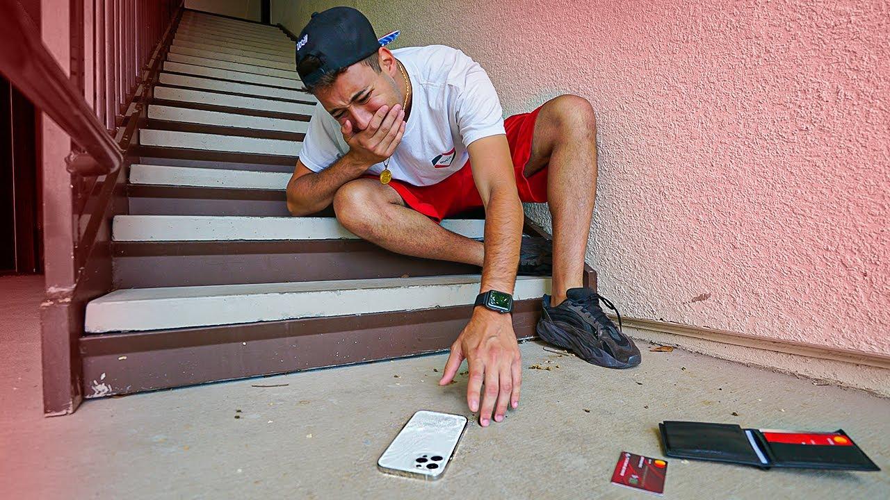 Deixei meu novo Iphone 12 Pro Max cair da escada e...