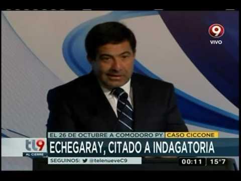 """Echegaray fue citado a indagatoria por el """"Caso Ciccone"""""""