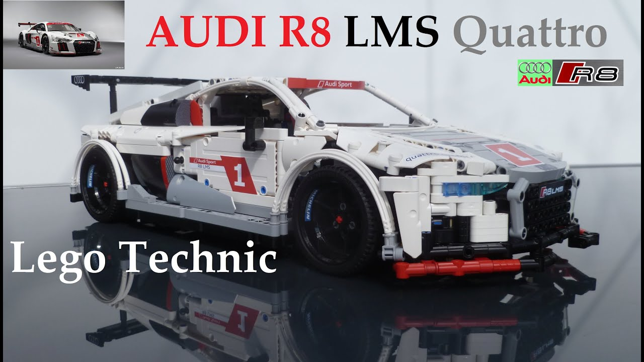 lego technic audi r8 lms rc moc quattro drive sys pf. Black Bedroom Furniture Sets. Home Design Ideas