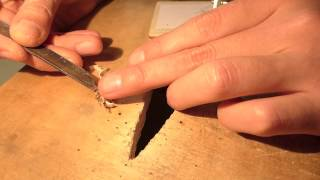how to cut inlay with handsaw