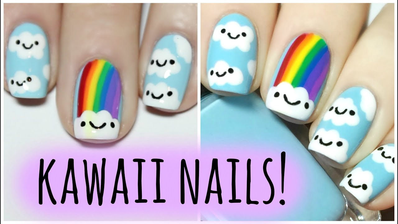 Kawaii Rainbow Nails The Nail Trail