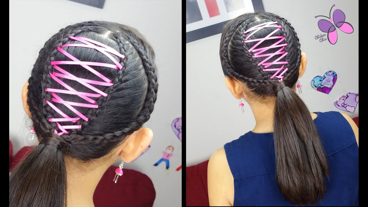 Corset Ponytail | Cute girly Hairstyles | Hairstyles for School ...