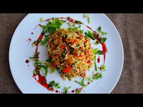 Плов из  мидий.  Рис с мидиями. Как Вкусно приготовить Рис.