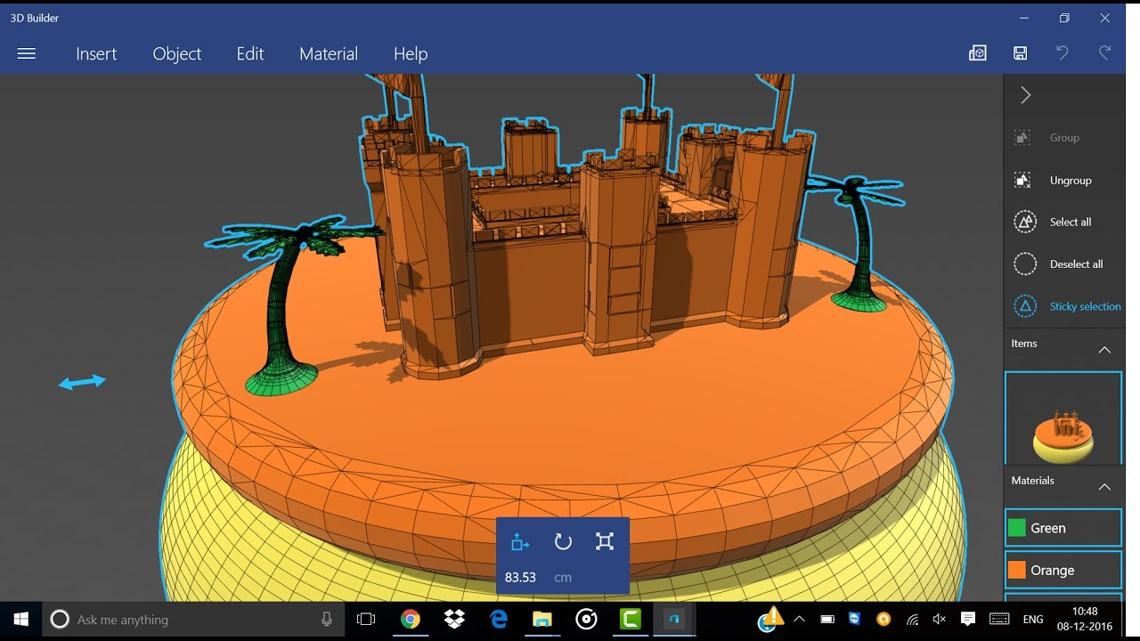 How to build a castle on sand using 3d builder in for Build house online 3d free