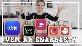 VEM ÄR SNABBAST - Wolt, Uber Eats, Foodora, Onlinepizza eller Hungrig.se?