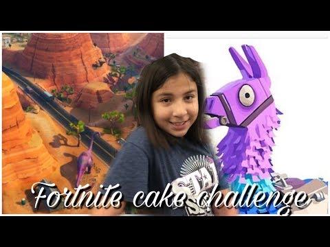 FORTNITE CAKE CHALLENGE CAKE CHALLENGE MOM VS DAUGHTER
