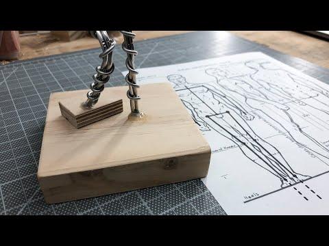 Figure Sculpture: Mounting Aluminum Wire Armature