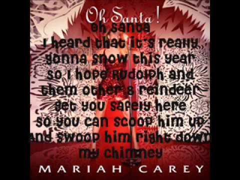 Mariah Carey- Oh Santa! [lyrics on screen + download link]