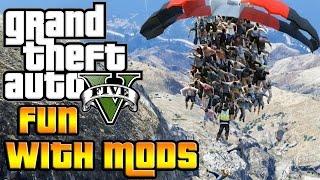 GTA V PC FUN WITH MODS! (E.T & Mass Murder)