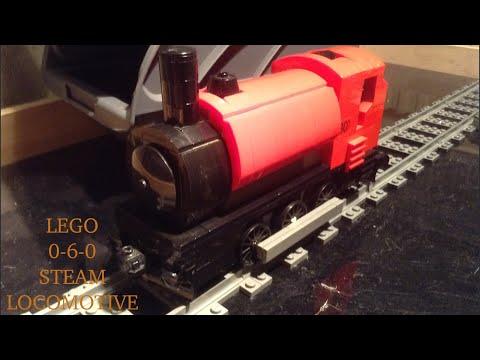 Lego train MOC showcase | red saddle tank locomotive 0 - 6 - 0
