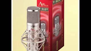 Aureal T-51ST test micrófono condensador  - guitarra acústica (patrón card- low cut)