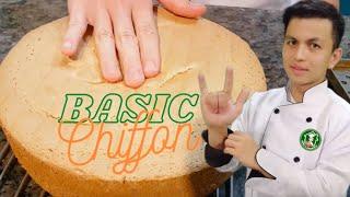 Easy to Bake Baṡic Chiffon Cake