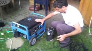 running .55 hp insinkerator on 2.5kw biogas genset